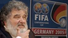 Chuck Blazer, then the general secretary of CONCACAF, is seen at a Frankfurt, Germany, news conference in 2005. (Bernd Kammerer/The Associated Press)