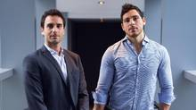 Minutes Solutions, a company that records the minutes at meetings for clients around the Greater Toronto Area, was co-founded by Noah Maislin, left, and Marko Lindhe. (JENNIFER ROBERTS/THE GLOBE AND MAIL)