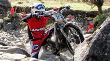 Rider Jonathan English at Scottish Six-day Trials (Bob English for The Globe and Mail)