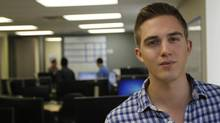 Bryan Gislason was recently hired by U.S. software company Kontagent to work at its new Toronto office. (Fernando Morales/The Globe and Mail)