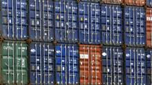 Shipping containers stacked in the Port of Haliax. (Roger Hallett)