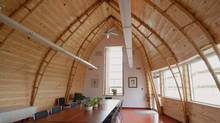 In the Pictou Landing Health Centre, local spruce trees were used to to create roof supports. (Richard Kroeker)