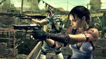 Sheva Alomar (foreground) and Chris Redfield in Resident Evil 5.