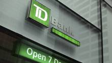 The outside of a TD Bank branch is seen in New York, Jan. 17, 2012. (Shannon Stapleton/Reuters/Shannon Stapleton/Reuters)
