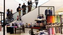 Nordstrom's second store, in Ottawa, is scheduled to be opened on Friday, with another one in the fall in Vancouver. (Dave Chan for the globe and mail)