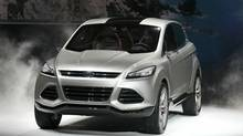 The Ford Vertrek concept car unveiled at the Detroit auto show offers a preview of the next-generation Escape crossover. (Scott Olson/Getty Images)