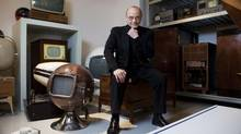 Moses Znaimer, founder and CEO of Zoomer Media Ltd., poses for a photograph in the MZTV Museum of Television and Archive at it's new location in Liberty Village, Toronto, on Wednesday, March 13, 2013. (Matthew Sherwood for The Globe and Mail)