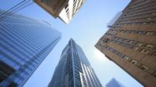 Toronto's financial district at the corner of Bay and Adelaide streets. (Gloria Nieto/The Globe and Mail)