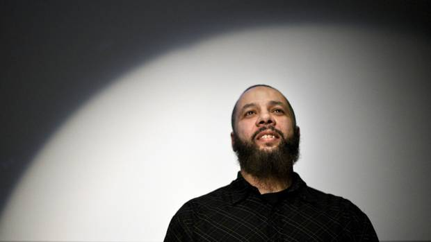 Adil Charkaoui is photographed during a panel discussion following a screening of the documentary Secret Trial 5, in Montreal, Quebec on March 12 2015. Having previously spent six years under security certificates, Charkaoui has been linked to at least one student who travelled to join militants fighting in Syria. (Fred Lum/The Globe and Mail)
