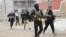 Tribal fighters who have been deployed onto the streets, patrol in the Iraqi city of Falluja in January, 2014. (REUTERS)