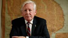 Liberal MP Bob Rae in his office on Parliament Hill in Ottawa. (DAVE CHAN/Dave Chan for The Globe and Mail.)