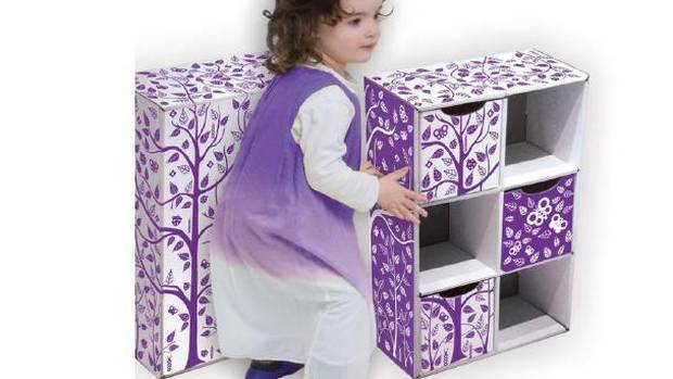 The Toytoy bookcase looks trendy (read: cha-ching) with its colourful nature motif, but costs less than a family dinner at McDonald's (especially important for Montreal designers Salomé Strappazzon and Mikaël Mourgu, who have young twins and know how expensive parenthood can be). The secret is the material – it's all cardboard, which has its benefits. The bookcase is recyclable and eco-friendly (thanks especially to the use of non-toxic, water-based dyes), and is made with a heavy gauge cardboard that can withstand the wriggling, jiggling, jumping joy that often comes with little ones. Assembly required. Approximately $20, 39-1/2 x 16-inch. Available through Rona.