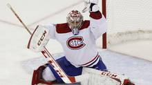 Montreal Canadiens goaltender Carey Price makes a glove save (ELLEN OZIER/REUTERS)