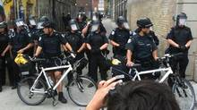 Picture taken by Lisan Jutras on Queen Street West Sunday. (Lisan Jutras/The Globe and Mail)