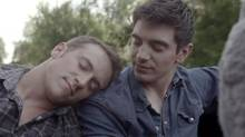 """It's been dubbed the """"first gay country video:"""" Chicago songwriter Steve Grand's summery All-American Boy portrays the singer falling for another man over bourbon and skinny dipping, and ends with a rebuff in the lake. """"We have all longed for someone we can never have. … We all have felt that ache for our #allamericanboy,"""" wrote Grand, who came out in Grade 8 and survived years of """"straight therapy."""" The video has garnered nearly half a million views on YouTube and may just land him a record deal. (YouTube)"""