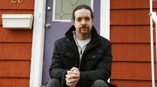 Jason Barnes – shown on the porch of his home in Cole Harbour, N.S., April 10, 2013 – kicked in the door to his bathroom after 17-year-old Rehtaeh Parson had died by suicide. (PAUL DARROW FOR GLOBE AND MAIL)