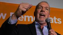 Mr. Horgan said his party's call for banning corporate and union donations sets him apart from the Liberals on the issue. (DARRYL DYCK For The Globe and Mail)