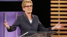 Ontario Premier Kathleen Wynne takes part in the Ontario provincial leaders debate in Toronto, Tuesday June 3, 2014. (MARK BLINCH/THE CANADIAN PRESS)