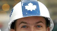 Toronto Maple Leafs fan at at the Air Canada Centre, April 20, 2004. (Louie Palu/The Globe and Mail)