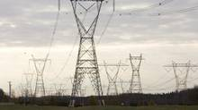 Hydro Quebec power lines are shown Thursday Oct. 29, 2009 in Levis Que.. (Jacques Boissinot/Jacques Boissinot/The Canadian Press)