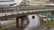 The Cogswell Interchange, which was built to accommodate a freeway that was never built, is seen in Halifax on April 26, 2013. (Andrew Vaughan/The Canadian Press)