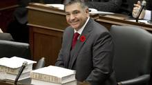 Ontario Finance Minister Charles Sousa prior to his delivering the government's Fall Economic Statement in the Ontario Legislature on Nov. 7, 2013. (Moe Doiron/The Globe and Mail)