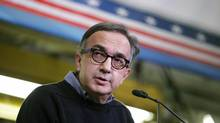 Chairman and CEO of Chrysler Group Sergio Marchionne speaks during a press conference announcing a $500-million investment in the complex at the Toledo Assembly Complex on November 16, 2011 in Toledo, Ohio. (J.D. Pooley/Getty Images)