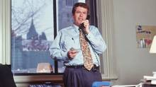 Peter Donolo works the phone in his Parliament Hill office in this undated file photo. (Mike Pinder)
