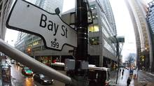 A Bay Street sign is pictured in Toronto's financial district. (MARK BLINCH/REUTERS)