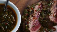 This sauce akin to a chimichurri should be brushed onto grilled beef while it's resting. (Michelle Siu for The Globe and Mail)