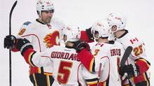 The Calgary Flames are among the highest-scoring teams in the NHL this season. (The Canadian Press)