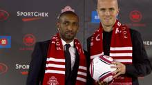New soccer players Jermain Defoe, left, and Michael Bradley (Fernando Morales/The Globe and Mail)