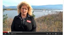Former B.C. NDP candidate Dayleen Van Ryswyk posted a video to YouTube in 2011 to promote her candidacy for Kelowna city council. (YouTube screen capture)