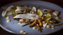 Gooseneck Barnacles at Wildebeest restaurant in Vancouver October 16, 2013. (John Lehmann/The Globe and Mail)