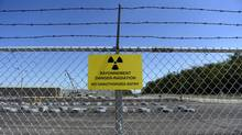 Intermediate-level waste is stored near the Bruce Power nuclear plant on June 26, 2013. (Fred Lum/The Globe and Mail)
