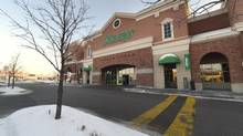 Exteriors of the Sobeys supermarket at Laird Dr. and Wicksteed Ave. in Leaside. (Fred Lum/he Globe and Mail)