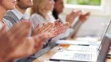 Investor Clinic readers deserve some applause, as they scored on average a passing grade, 52 per cent, on the year-end quiz. (Robert Kneschke/Thinkstock)