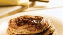 This family favourite, a batch of pancakes drizzled with maple syrup, is a great way to spin a strong dose of whole grains into a get-out-of-bed treat to kick-start a nutritious day.