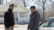 """This image released by Roadside Attractions and Amazon Studios shows Kyle Chandler, left, and Casey Affleck in a scene from """"Manchester By The Sea."""" (Claire Folger/Roadside Attractions and Amazon Studios via AP) (Claire_Folger)"""