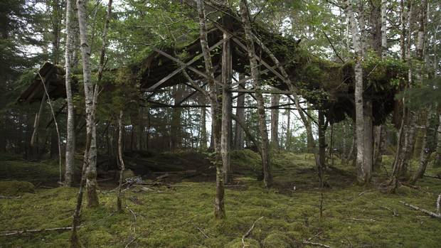 From the exhibit Coastal by Johan Hallberg-Campbell: Loggers Cabin,