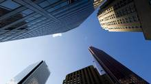 Canadian bank headquarters on Bay Street in Toronto. (Brent Lewin/Bloomberg)