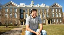 Marcelo Salviano on the campus of Dalhousie University in Halifax, NS , March 22, 2012. He is studying neuro-science through the PhD sandwich program. (PAUL DARROW/GLOBE AND MAIL)