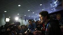 Canada's men's hockey team head coach Mike Babcock speaks to the media during a press availability at the 2014 Sochi Winter Olympics, February 17, 2014. (JIM YOUNG/REUTERS)