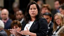 Canada's Justice Minister Jody Wilson-Raybould speaks in the House of Commons on Parliament Hill in Ottawa on Oct. 17, 2016. (CHRIS WATTIE/REUTERS)