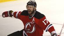 New Jersey Devils' Ilya Kovalchuk celebrates after scoring on the New York Rangers during the first period in Game 6. (Adam Hunger/Reuters/Adam Hunger/Reuters)