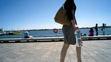 Canadian researchers tested nearly a dozen brands of bottled water and discovered that 70 per cent had high levels of heterotrophic bacteria. (Sami Siva/The Globe and Mail)