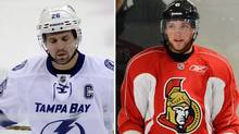 Tampa Bay's Martin St. Louis and Ottawa's Bobby Ryan