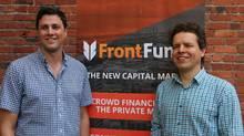 Sean Burke and Peter-Paul Van Hoeken of FrontFundr (FrontFundr)