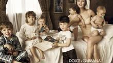 An advertisement for Dolce & Gabbana's infant perfume (D&G)