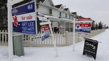 Alberta's housing market is expected to decline 20 per cent this year and prices to dip by 3.4 per cent, according to the latest forecast from the Canadian Real Estate Association. (Todd Korol For The Globe and Mail)
